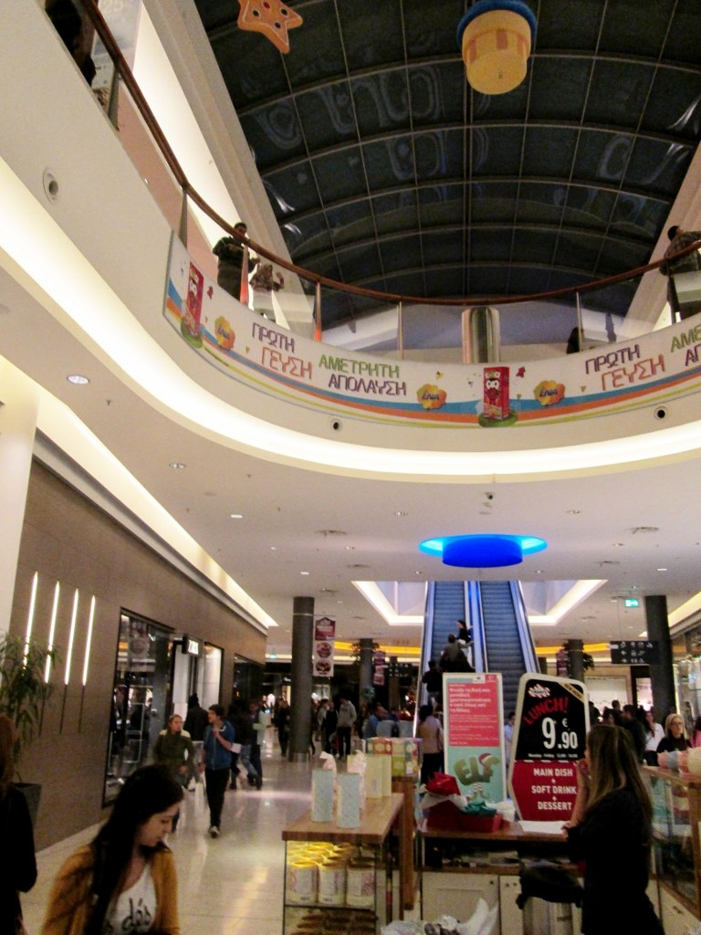 Interior of the Mall of Cyprus Christmas holiday period Nicosia Republic of Cyprus