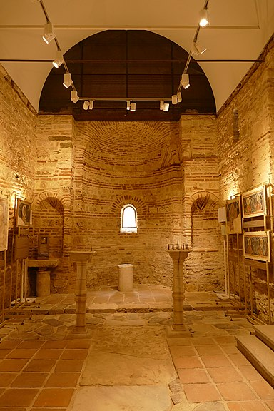 Interior of the church of st Paraskevi, Nessebar 01