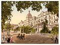 Interlaken, highway and hotels, Bernese Oberland, Switzerland-LCCN2001701190.jpg