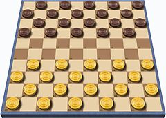 International draughts board