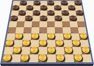 Draughts - International draughts board