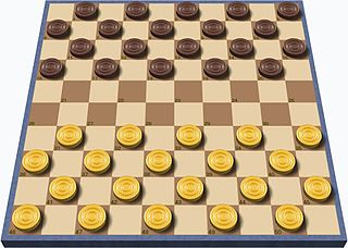 International draughts strategy board game