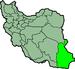 موقعیت استان سیستان و بلوچستان در ایران.