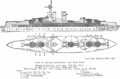 Iron Duke class battleship - Jane's Fighting Ships, 1919 - Project Gutenberg etext 24797.png