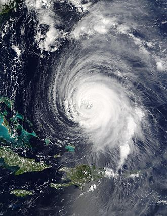 Physical oceanography - Hurricane Isabel east of the Bahamas on 15 September 2003