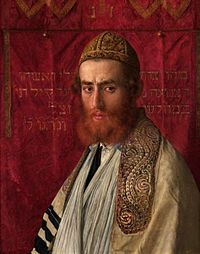 Isidor Kaufmann Portrait of a rabbi wearing a kittel and tallith.jpg