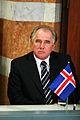 Islands statsminister, Halldor Asgrimsson under presskonferens vid Nordiska radets session i Stockholm (1).jpg