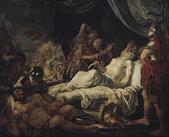 Pelopidas - Death of Pelopidas, by Andrey Ivanov, 1805-1806