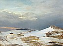 J. Th. Lundbye, Winter landscape with Northern Zealand character, 1841,0092NMK, Nivaagaards Malerisamling.jpg