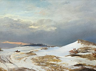 Winter landscape with Northern Zealand character