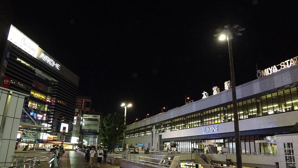1024px jr omiya station west exit night