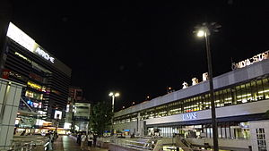 JR Omiya Station West Exit Night.JPG