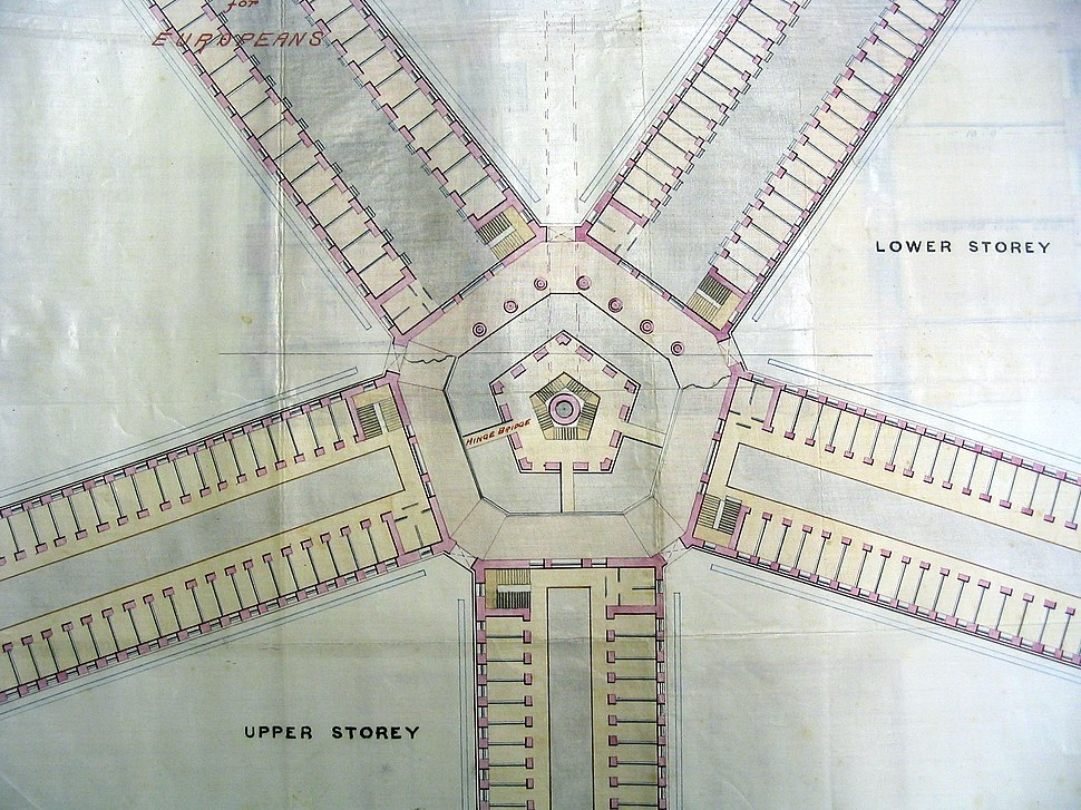 J F A McNair, architectural drawing of a proposed prison at Outram, Singapore (1880s)