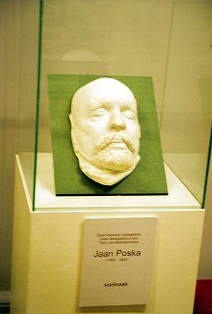 Jaan Poska - Poska's mask in Tartu museum