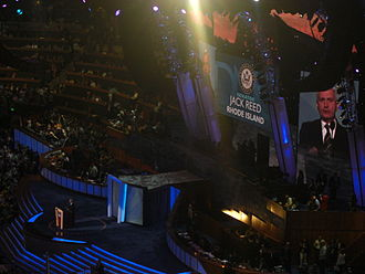 Jack Reed (Rhode Island politician) - Reed speaking during the third night of the 2008 Democratic National Convention in Denver, Colorado.