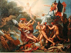 Musée Réattu - Le triomphe de la Liberté (The triumph of Liberty), a 1794 painting by Jacques Réattu in the Museum