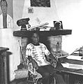 James Baldwin in his house in Saint-Paul de Vence.JPG