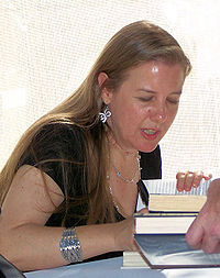 Fitch at the book signing tent of the 2006 Texas Book Festival