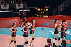 Japan women's national volleyball team at the 2012 Summer Olympics (7914019500).jpg