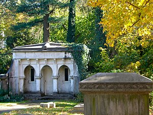 Jay Cooke - Jay Cooke's mausoleum in Elkins Park, behind St. Paul's Episcopal Church, which he founded.