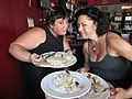Jazz Brunch at Buffa's, New Orleans - Biscuits and Gravy with Megan and Ingrid.jpg