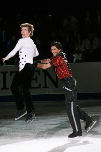 Jeffrey Buttle - Buttle and Evan Lysacek performed a throw jump at the 2008 Four Continents exhibition gala