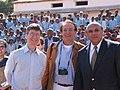 Jeffrey Sachs con l'amabasciatore ONU, Zina Andrianarivelo, e Pierpaolo Saporito, presidente OCCAM - Osservaotrio per la comunicazione digitale al centro.jpg