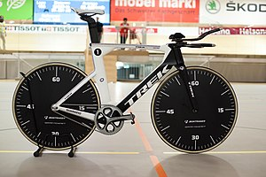 Hour record - The bike used by Jens Voigt in the first attempt under the unified regulations in 2014