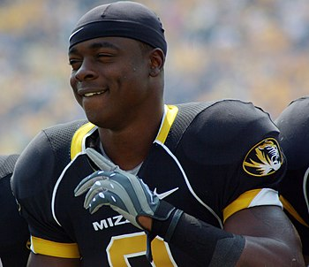English: Missouri Tigers wide receiver Jeremy ...