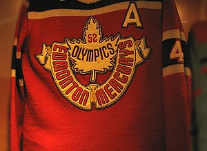 Ice hockey at the 1952 Winter Olympics - Image: Jersey of the Edmonton Mercurys