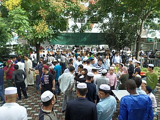 Freedom of religion in China - Eid al-Adha at Jiangwan Mosque, Shanghai.