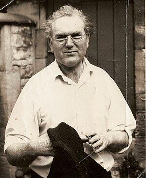 John Bridgeman (sculptor) - John Bridgeman outside his studio