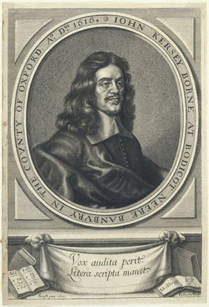 John Kersey the elder - John Kersey, engraving by William Faithorne after Gerard Soest.