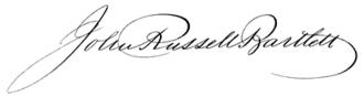 John Russell Bartlett - Image: John Russell Bartlett signature