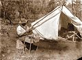 John T. Tunney in front of tent - ZooKeys-255-103-g003-top.jpeg