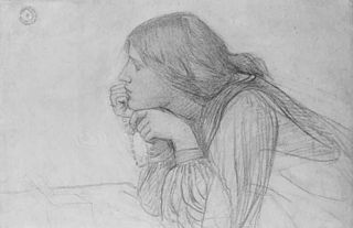 Study of a Female Figure with Rosary