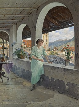Josef Kinzel Blick über die Dächer