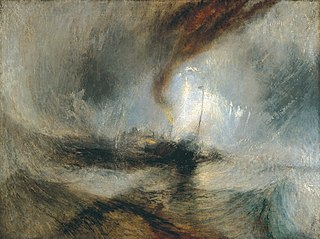 <i>Snow Storm: Steam-Boat off a Harbours Mouth</i> painting by J. M. W. Turner