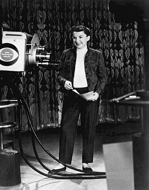 Ford Star Jubilee - Judy Garland rehearsing for the program's premiere, September 24, 1955.
