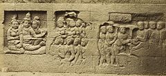 KITLV 40086 - Kassian Céphas - Relief of the hidden base of Borobudur - 1890-1891.jpg