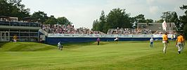 KLM Open Tribunes hole 18.JPG