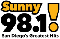 KXSN Sunny 98.1 San Diego's Greatest Hits logo.png