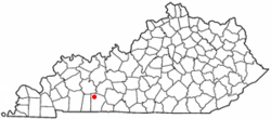 Location of Lewisburg, Kentucky