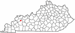Location of Slaughters, Kentucky