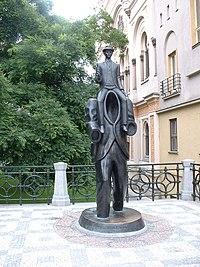 Statue en bronze à l'effigie de Kafka (Prague)