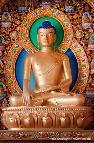 Kagyu Samye Dzong London - Kagyu Samye Dzong London main Buddha statue