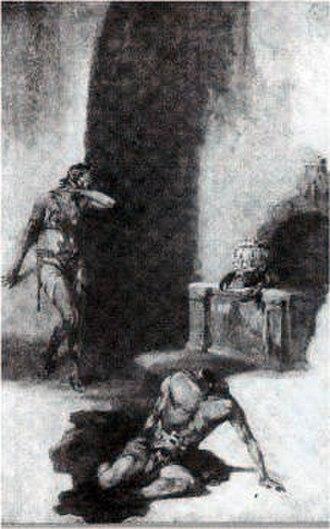 Kaldane - Kaldane and rykor as illustrated by J. Allen St. John in first edition of Chessmen of Mars