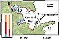 Kamaishi Inundation areas of the 2011 Great East Japan Earthquake Ando et al 2013.jpg