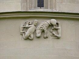 kampf davids mit dem lwen steinerne bibel von schngrabern niedersterreich um 1220 - Knig David Lebenslauf