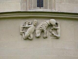 Kampf Davids mit dem Löwen (Steinerne Bibel - Schöngrabern).jpg